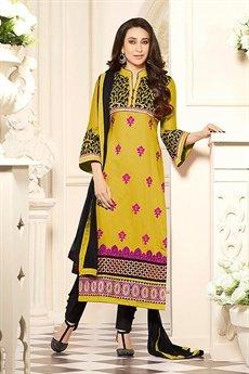 Zankar By Karishma  Cotton Salwar Kameez  Yellow