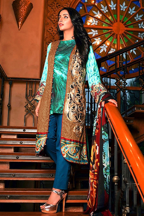 Bollywood Sea Green Suit Jacketed Suit