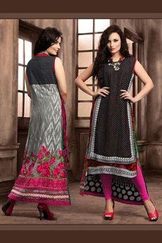 Alluring And Stunning Designer Layer Style Georgette Kurti