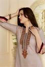 Beige Printed Cotton Salwar Kameez By Karishma