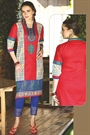 Rutbaa Beautiful Red Color Printed Kurti With Embroidery