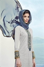 Light Grey Chikankari Work Cotton Straight Style Salwar Suit