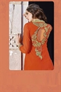 Impressive Georgette Designer Kurti In Orange