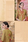 Greenish Brown Palazzo Suit in Georgette With Printed Dupatta