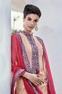 Light Pale Pastel Green Smoke Chikankari Work Cotton Straight Cut Salwar Suit
