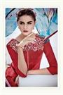 Burnt Red Embroidered Cotton Jacquard Designer Salwar Suit