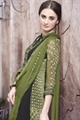 Casual Wear Dark Moss Green Color Digital Printed Georgette Palazzo Suit