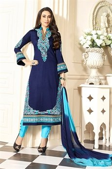 Blue Karishma Cotton Salwar Kameez