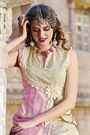 Hot Lady Impressive Georgette Designer Kurti In Light Pink