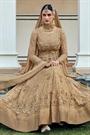 Stunning Beige Anarkali Suit with Beautiful Zari embroidery