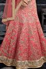 Pink Beige Embroidered Silk Lehenga Choli