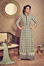 Designer Salwar Kameez Palazzo Suit In Laurel Green Polka Dots Print