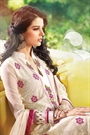 Off-White Embroidered Pure Georgette Salwar Suit