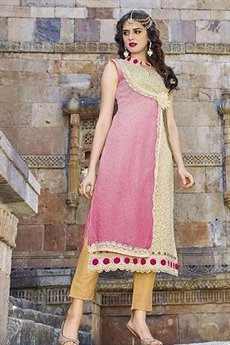 Hot Lady Impressive Georgette Designer Kurti In Mouve