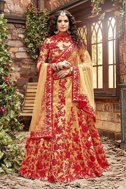 Stunning Red and Gold Designer Lehenga