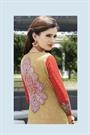 Greenish Brown Color Printed Pure Cotton Salwar Kameez