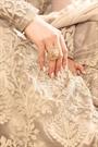 Fascinating Beige Net Floor-Length Ethnic Anarkali Suit