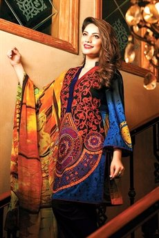 Bollywood Black Printed Glace Cotton Suit With Digitally Printed Dupatta