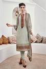 Light Pastel Green Chikankari Cotton Straight Style Salwar Suit