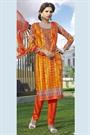 Tangelo Color Printed Pure Cotton Salwar Kameez
