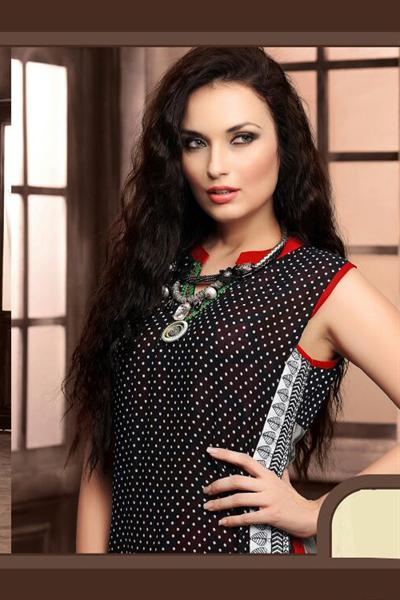 Alluring And Stunning Designer Layer Style Georgette Kurti with Complimentary necklace