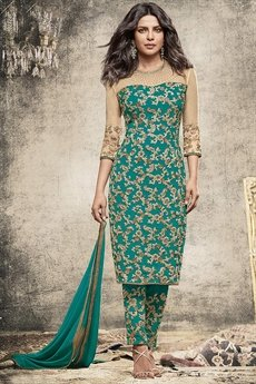 Royal Teal Green straight cut suit