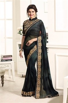 Black Stunning Georgette Saree